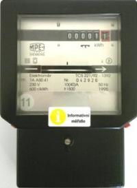 Jednofázový indukční elektroměr - REPASOVANÝ, NEOVĚŘENÝ